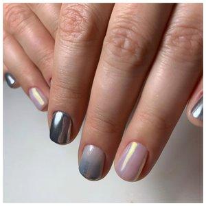 Дизайн ногтей втиркой