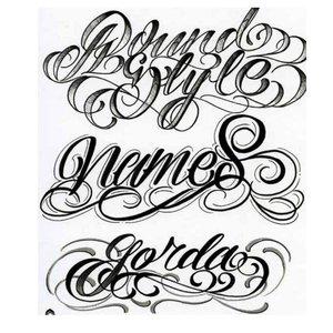 Шрифты для татуировок- примеры