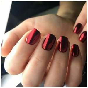 Красивые короткие красные ногти