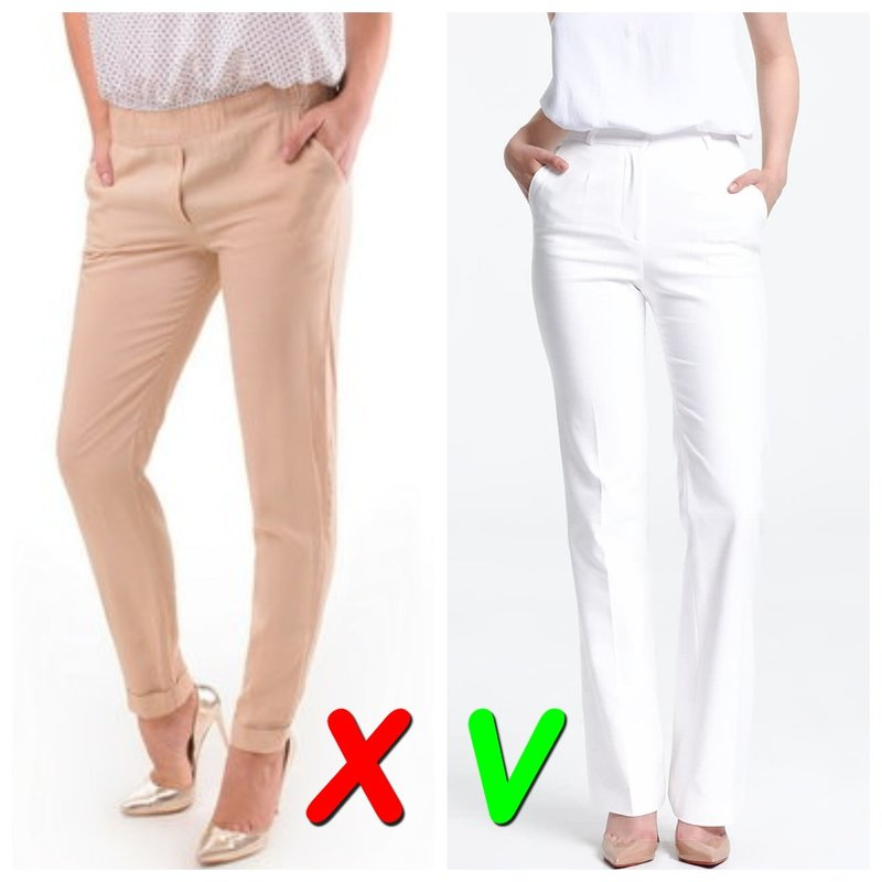 Светлые модные брюки