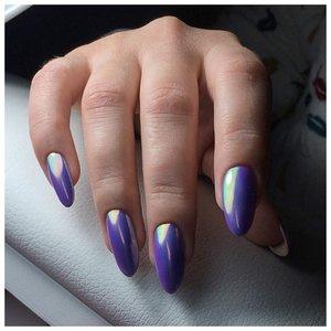 Красивые металлические ногти