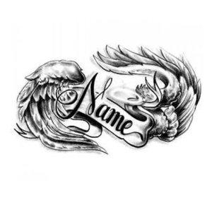 Татуировка имя эскиз