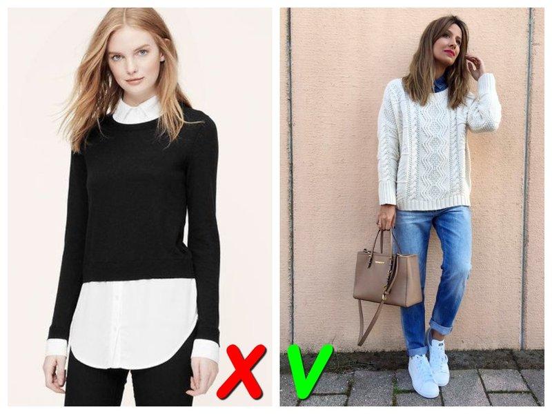 Рубашка и свитер