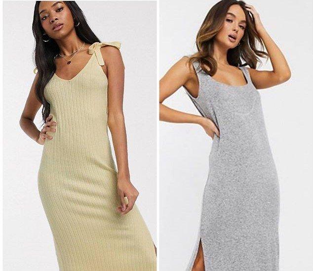Красивые домашние трикотажные платья