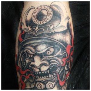 Цветное тату на руке