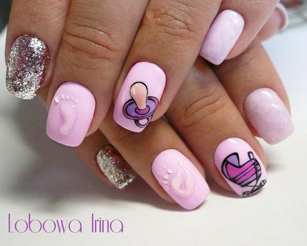 Детский дизайн на ногтях