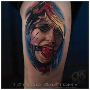 Татуировка - изображение женщины