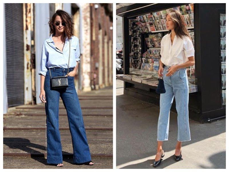 Вечная классчика: белая рубашка и джинсы