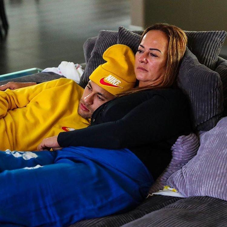 Неймар с мамой Надин