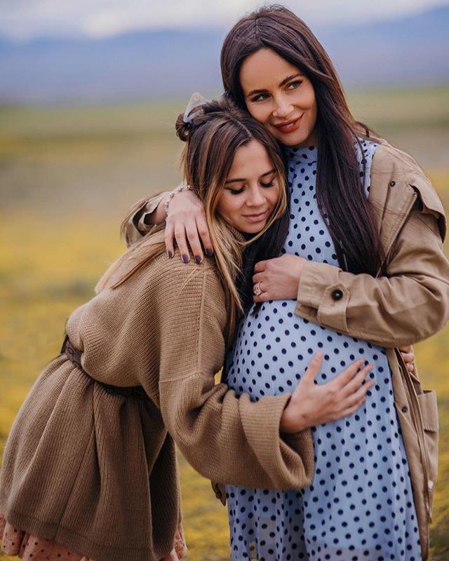 Саша Зверева с дочерью Василисой