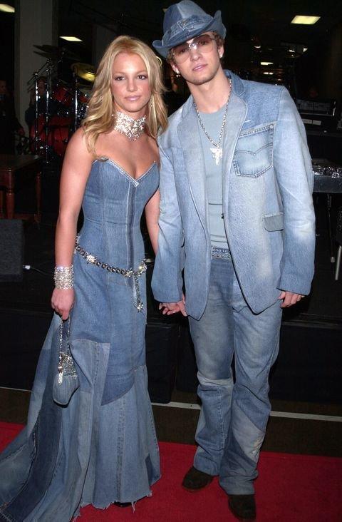 Спирс и Джастин в джинсовых костюмах
