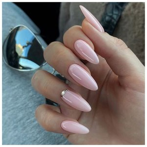 """Длинные ногти цвета """"розовый лед"""""""