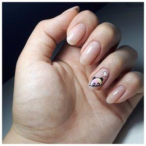 Милые ногти с пандой