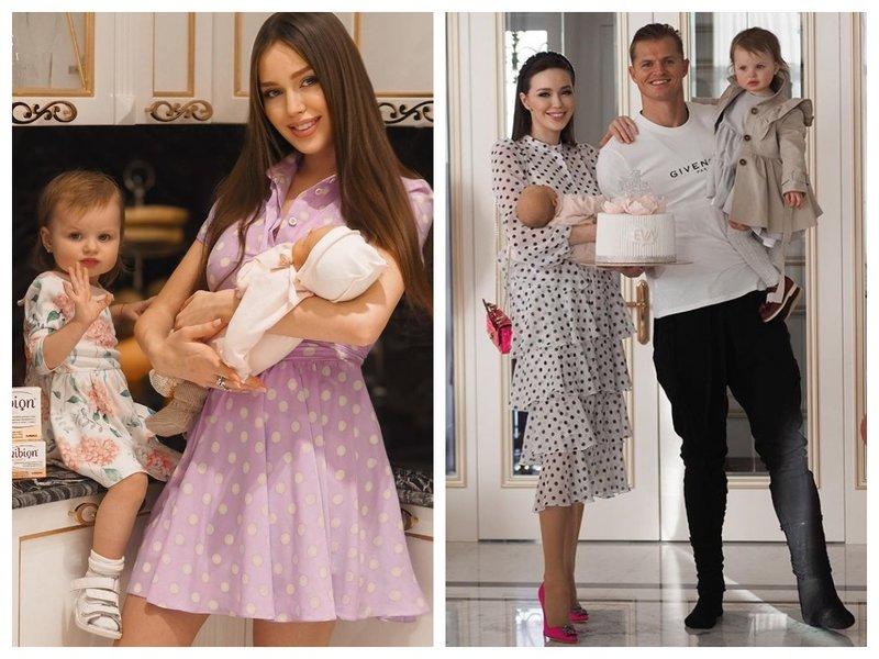 Анастасия Костенко с новорожденной дочкой