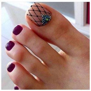 Сеточка на ногтях