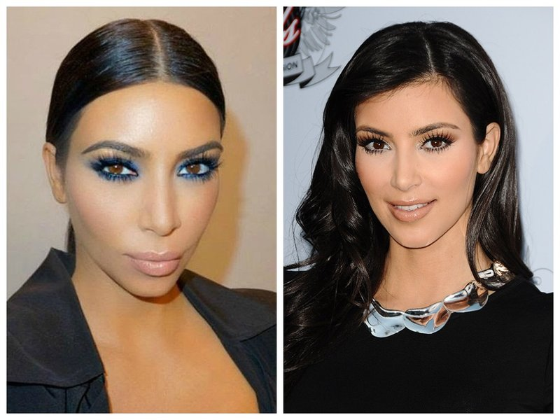Ким Кардашьян устаревший макияж