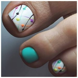 Дизайн паутинка для ногтей