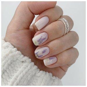 Нежные ногти с рисунком