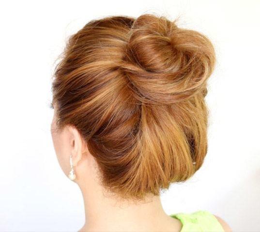 Аккуратный пучок из волос