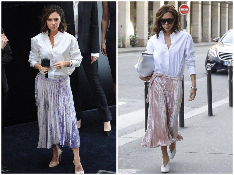 Как носить юбку плиссе с белой рубашкой