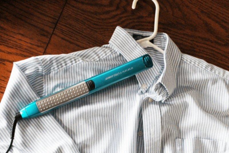 Как гладить одежду утюжком для волос