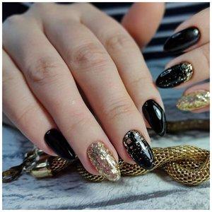 Черные ногти с камифубиками