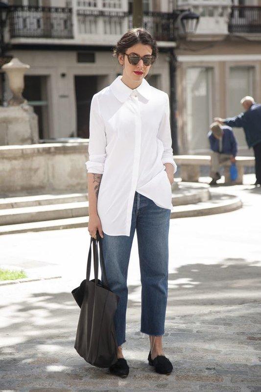 Как носить белую рубашку летом