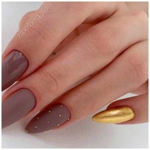 Стильный матовые ногти