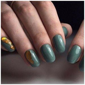 Дизайн ногтей жидкий металл