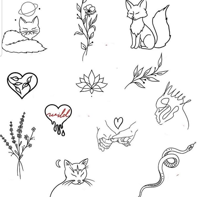 Оригинальные эскизы для микро тату