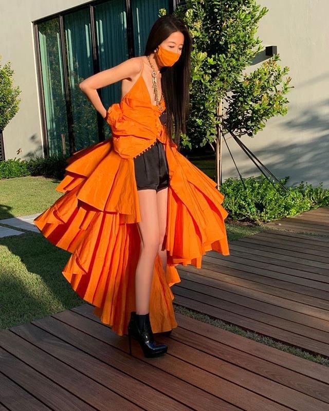 Вера Вонг в платье для Met Gala 2020