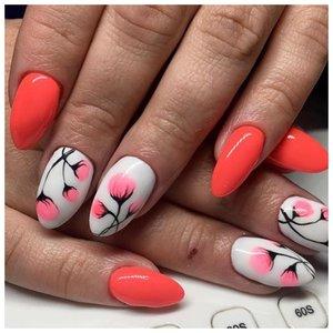 Яркие ногти с цветами