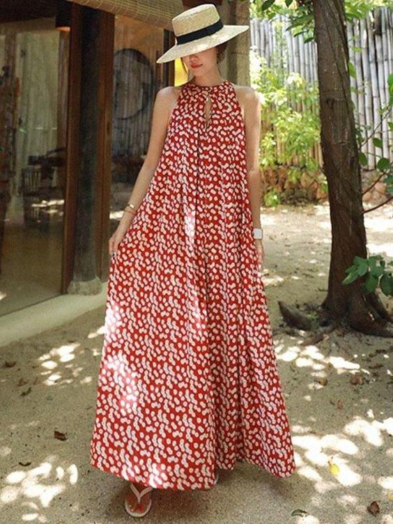 Летнее платье А-силуэта