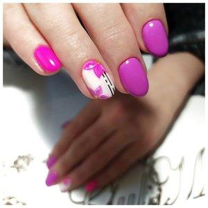 Цвет ногтей фуксия