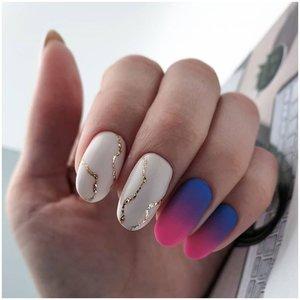 Матовые ногти с эффектом омбре