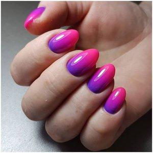 Фиолетово-малиновые ногти