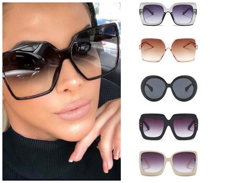 Модные массивные очки