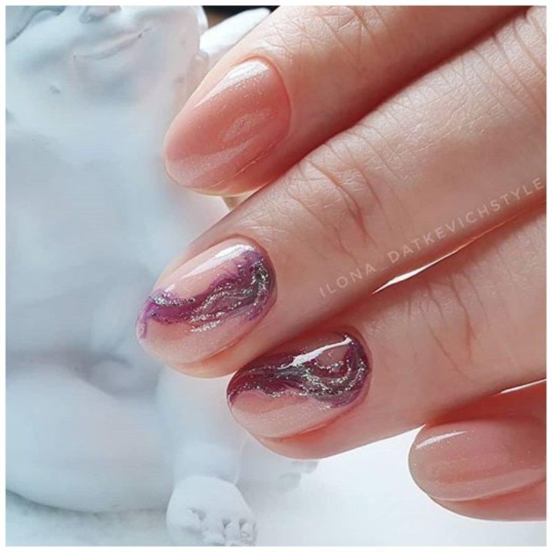 Нюдовые ногти с классным дизайном