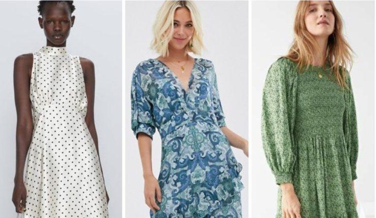 Модные романтичные миди платья