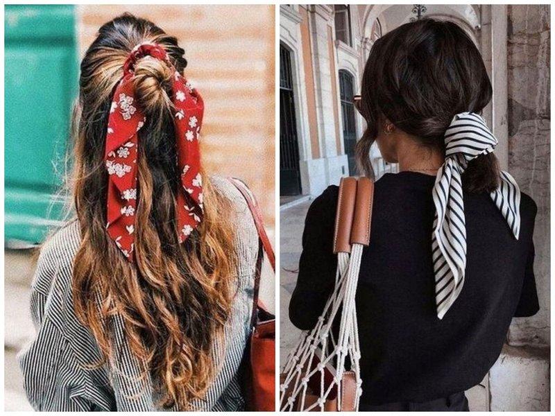 Как носить платок на волосах