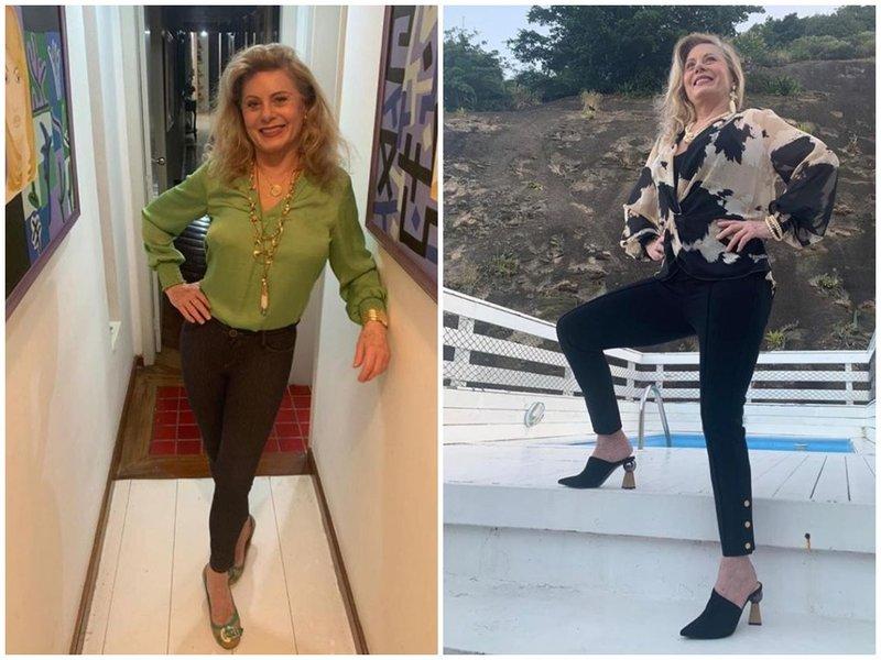 Вера Фишер в облегающих джинсах