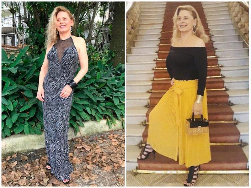 Вера Фишер в платье