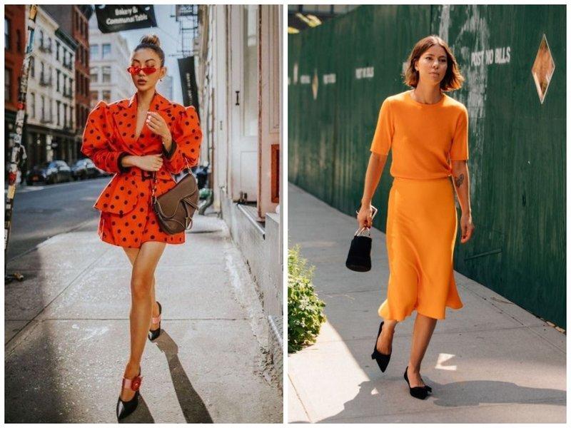 Total orange look