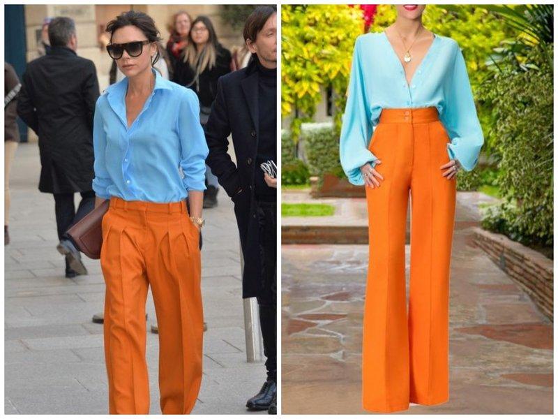 Оранжевый с голубым гармоничное сочетание