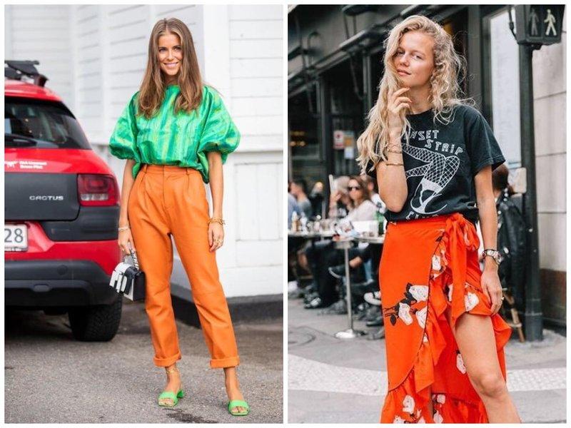 Модные летние образы с оранжевым цветом