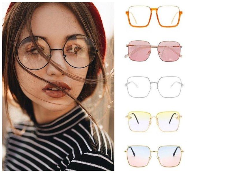 Модные прозрачные очки