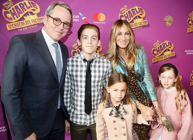 Мэттью Бродерик и Сара Джессика-Паркер фото с детьми