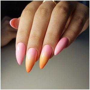 Нежные розовые ногти с омбре