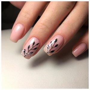 Красивые веточки на ногтях