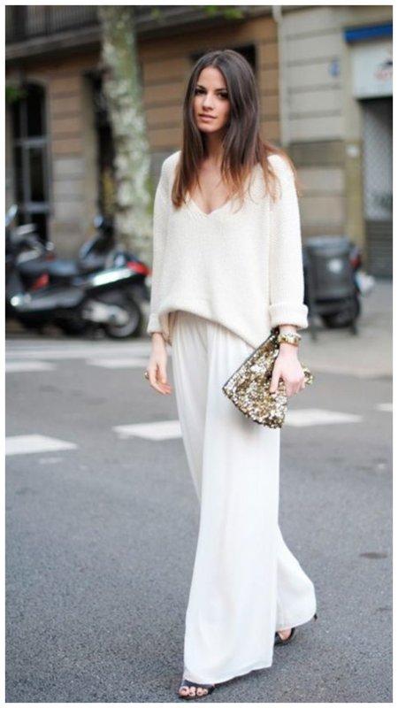 Стильный летний образ в белом